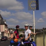CROSSING THE MOSELLE RIVER INTO LUXEMBURG